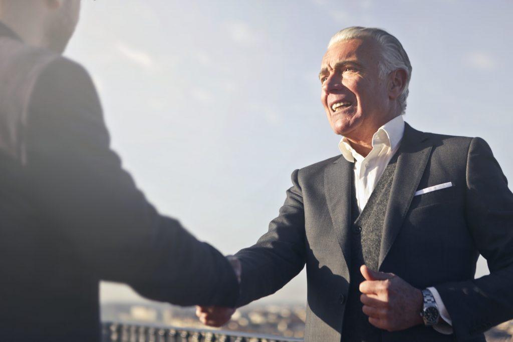 Hand shake Business Relationships